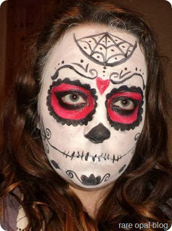 rare opal: Easy Halloween Face Painting Ideas