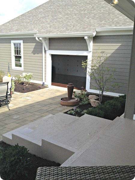 extra garage door onto patio
