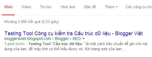 Google Index nhanh bài viết