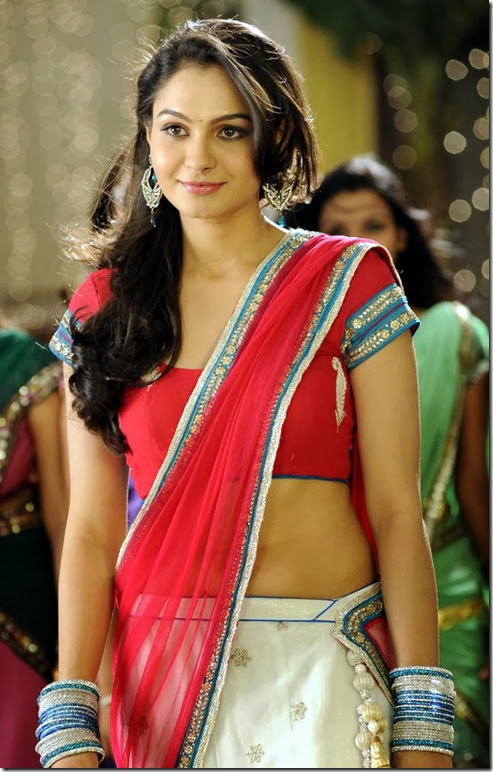 Tadakha Actress Andrea Jeremiah Hot Saree Photos