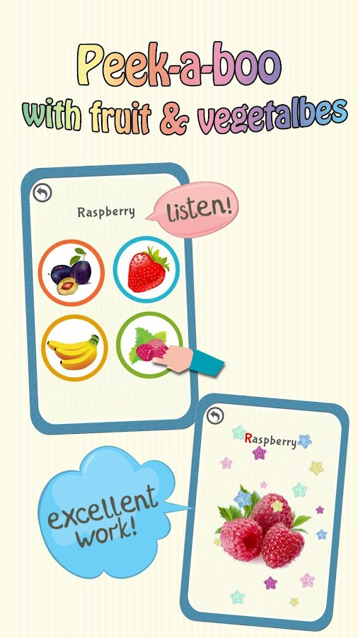 Baby Learning Card - Fruit- screenshot