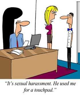 sexual harassment claim touchpad