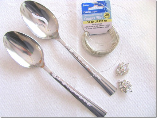 serving spoons with jewelry