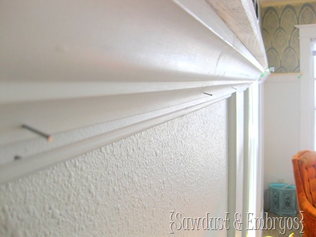 Building a Crown Molding Shelf {Tutorial by Sawdust and Embryos}