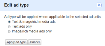 text and image ads in adsense