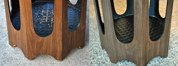 table damage before & after