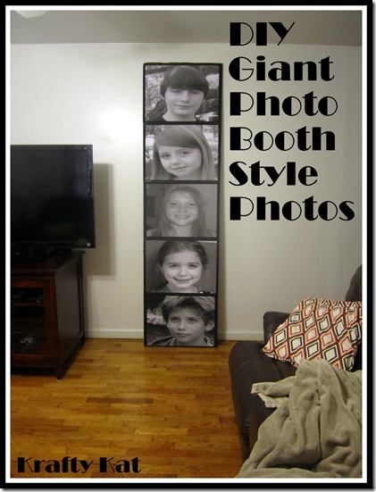 DIY Giant Photo Booth Style Photos (Krafty Kat)