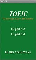 Screenshot of TOEIC listening (LC)