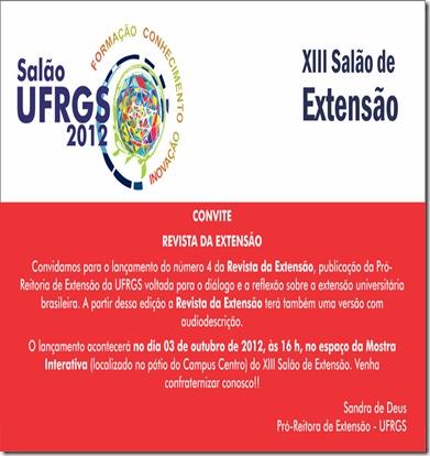 Convite lançamento revista da extensão