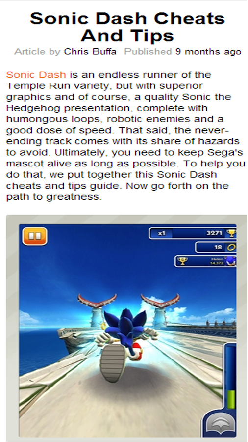 Sonic Dash Tips & Tricks - screenshot