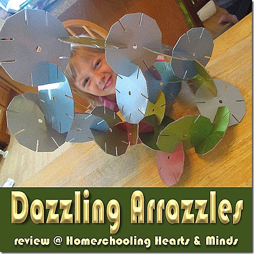 Arrazzles---a new kind of building toy  from Funnybone Toys, a review at Homeschooling Hearts & Minds