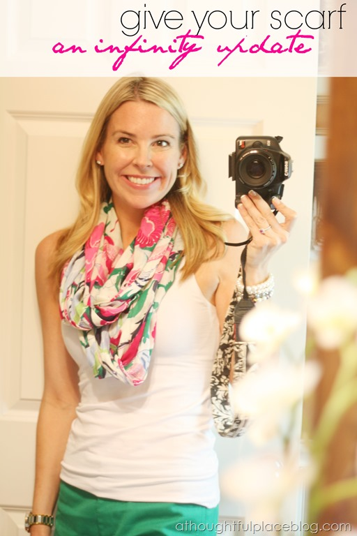 Turn A Traditional Scarf Into An Infinity Scarf A Thoughtful Place