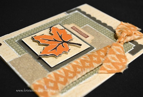 Fabric- ribbon on autumn card DSC_2319