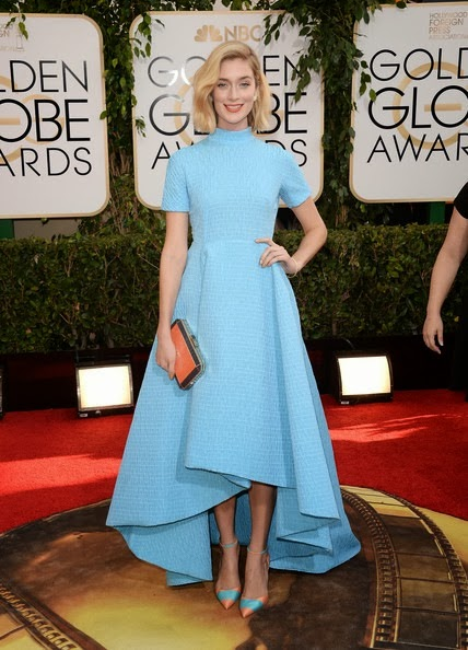 Caitlin FitzGerald attends the 71st Annual Golden Globe Awards
