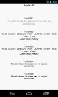 Screenshot of Fonts for FlipFont 180