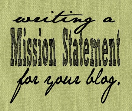 @mvemother Writing a #blog #missionstatement