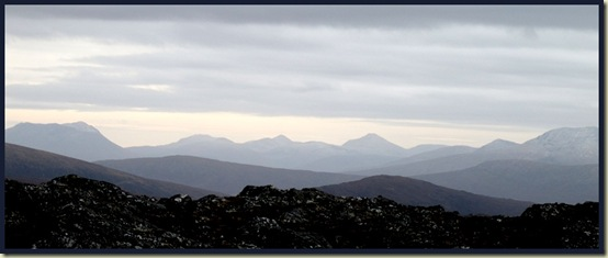 View south to the hills beyond Rannoch (Achallader area)