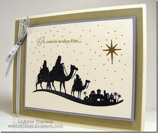 LeAnne Pugliese WeeInklings Merry Monday 122 Come to Bethlehem Christmas Stampin Up