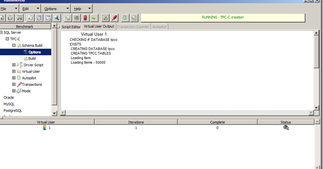 HammerDB : Load Testing   SQL Panda