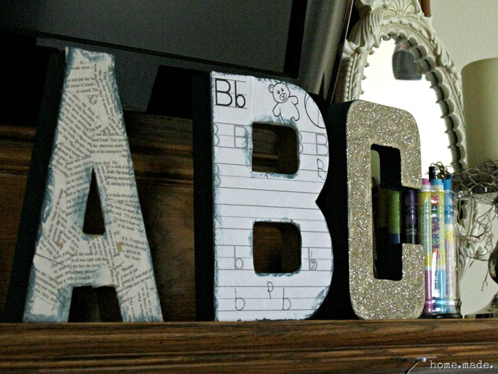 Back to School Mantle letters
