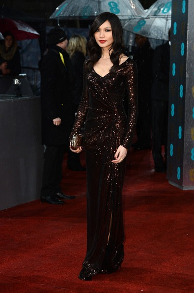 Gemma Chan attends the EE British Academy Film Awards