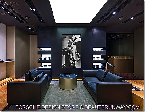 Porsche Design Store Singapore Lounge area The Shoppes at Marina Bay Sands