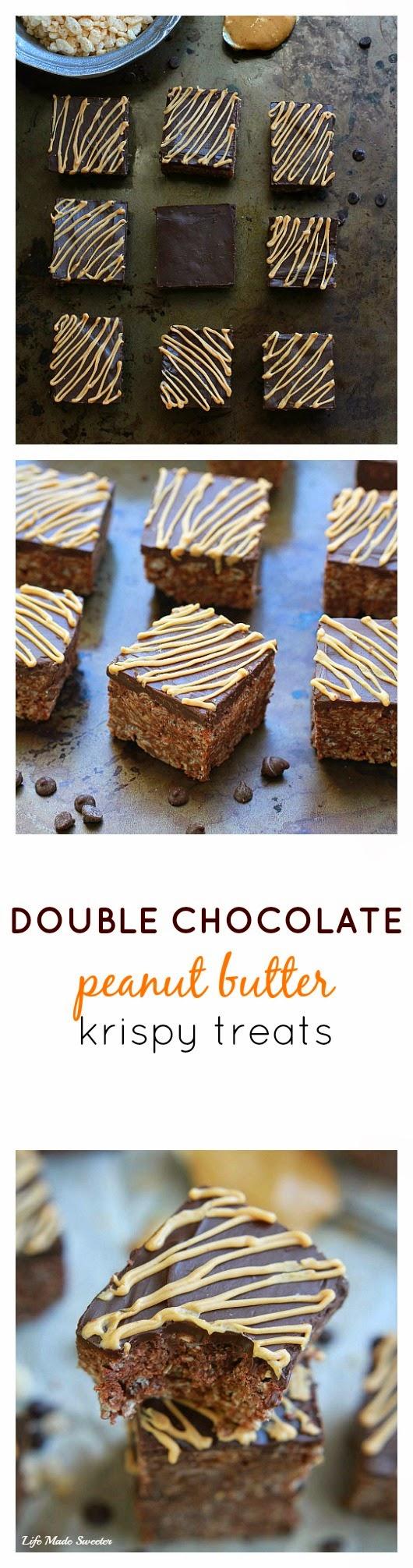 Double Chocolate Peanut Butter Krispy Treats via - - @LifeMadeSweeter.jpg