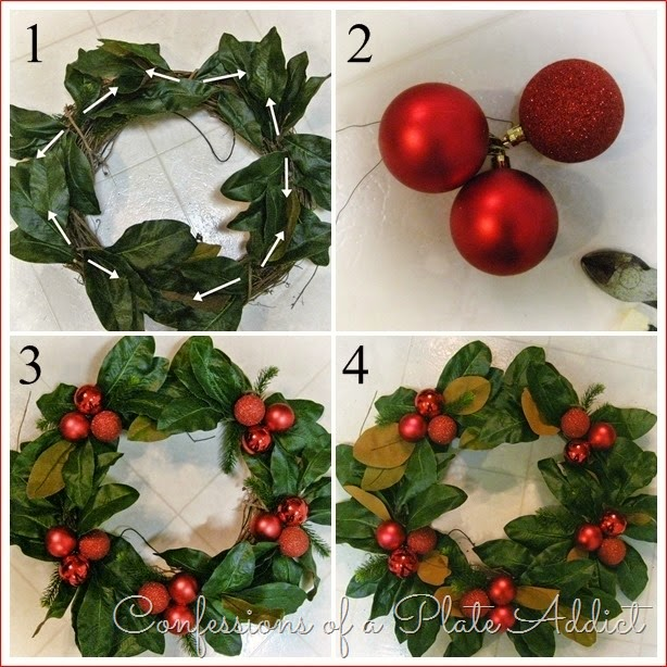 CONFESSIONS OF A PLATE ADDICT  Pottery Barn Inspired Faux Magnolia Wreath Tutorial