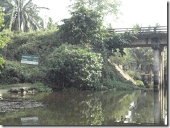 Kerala Canal Direction Sign