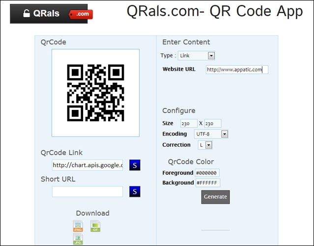 QRals.com screenshot