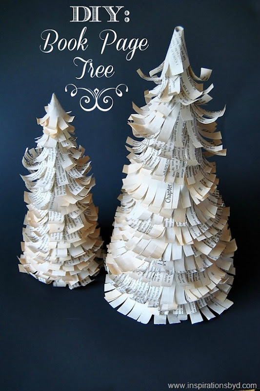 DIY: Book Page Tree