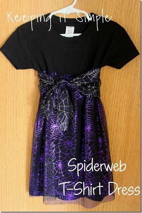 Spiderweb t-shirt dress