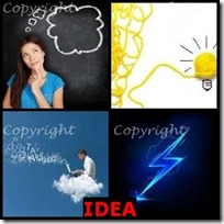 IDEA- 4 Pics 1 Word Answers 3 Letters