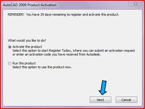 Cannot Activate AutoCAD 2009 | My Technical Knowledge