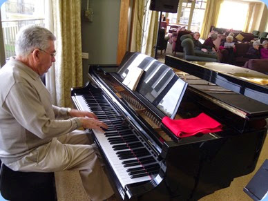 Jim Nicholson playing the Kawai grand piano