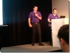 Chris Walsh and Jake Ginnivan presenting