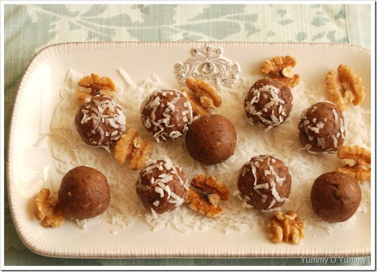 Dates, Walnut and Nutella Laddus