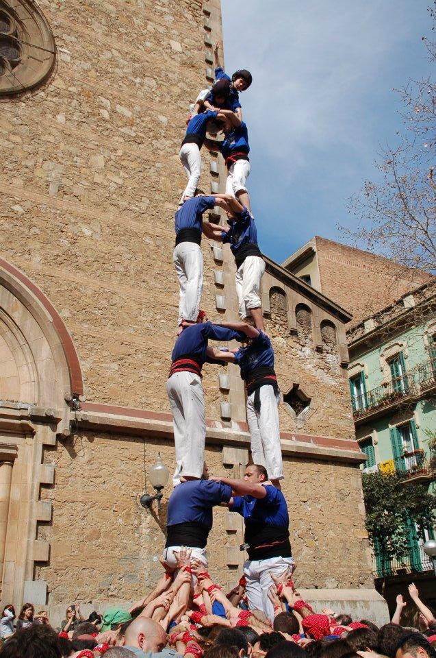 2 de 7 dels castellers de la #ViladeGràcia a la Diada de Sant Medir