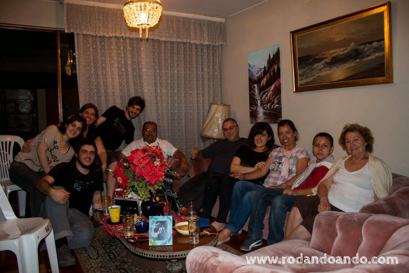 Cesar, Paty y Patricio nos visitaron en casa de Doris