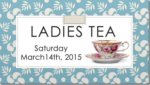 Ladies Tea