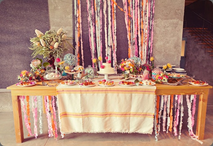 15 dessert table  bows and arrows