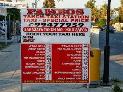 Tarife taxi Larnaca
