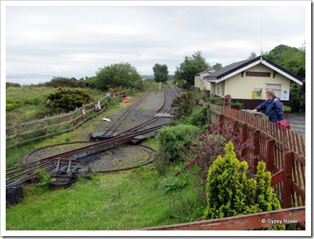Craignure station, Mull narrow guage railway suspended until further notice.