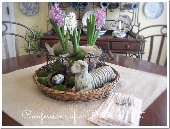CONFESSIONS OF A PLATE ADDICT Rustic Easter Centerpiece3