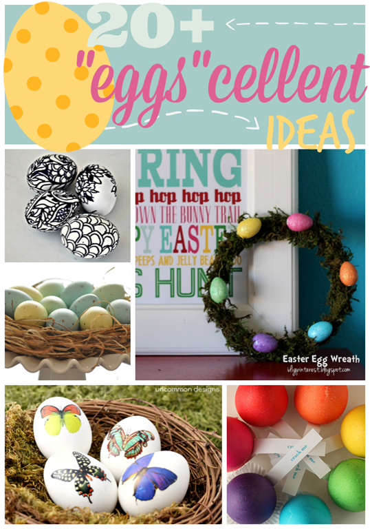 Over 20 Eggscellent Ideas at GingerSnapCrafts.com #Easter #eggs #linkparty #features