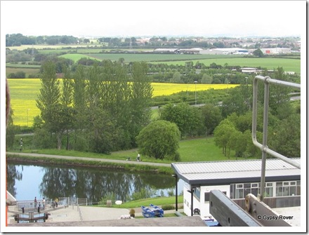 Looking down on the Forth & Clyde canal from the Falkirk Wheel.