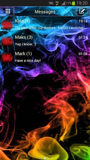 【免費個人化App】GO SMS Theme Color Smoke Buy-APP點子