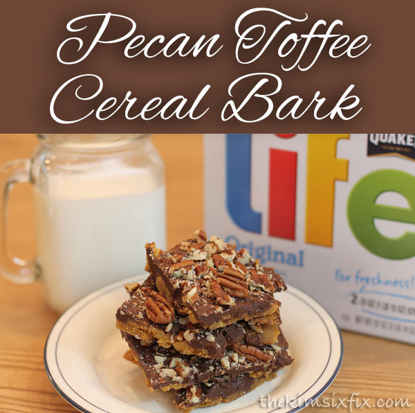 Pecan Toffee Life Cereal Bark