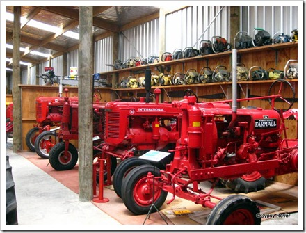 Tawhiti museum. Tractors and chain saws.