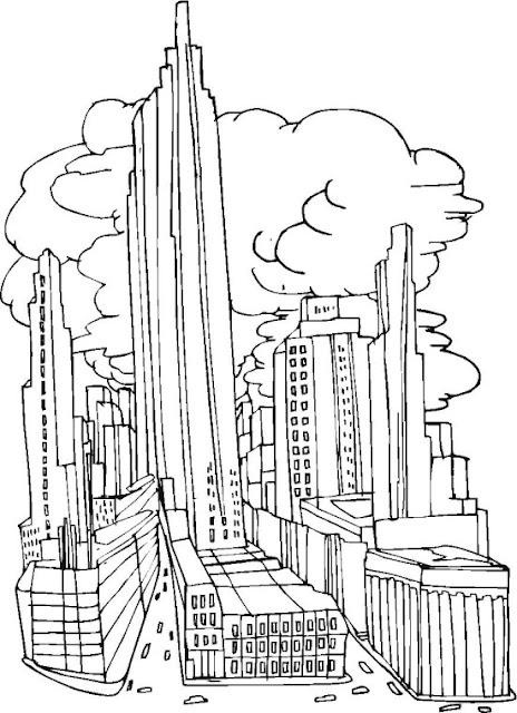 Ciudades Dibujos Para Colorear